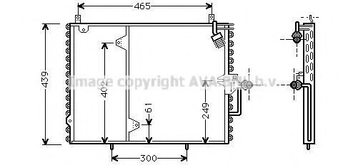 Радиатор кондиционера AVA MS5160