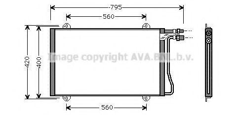 Радиатор кондиционера AVA MS5219