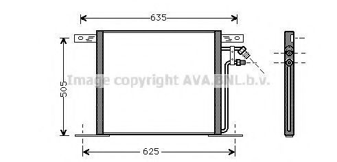 Радиатор кондиционера AVA MS5220