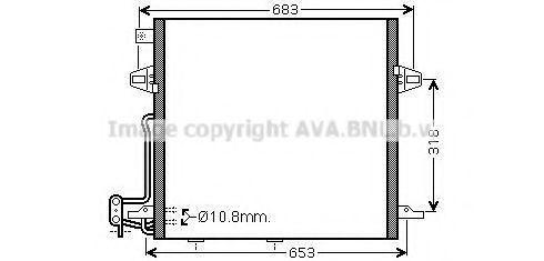 Конденсор кондиционера AVA MS5406D
