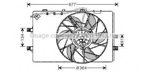 Вентилятор, охлаждение двигателя AVA MS7509