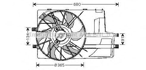 Вентилятор, охлаждение двигателя AVA MS7511
