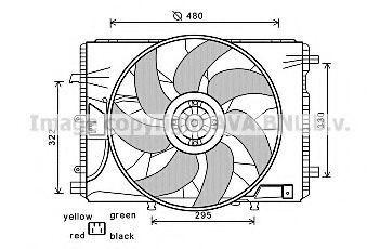 Вентилятор, охлаждение двигателя AVA MS7522