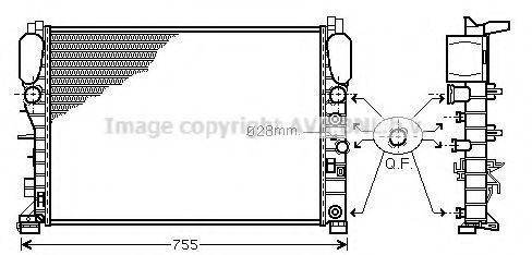 Радиатор охлаждения AVA MSA2342