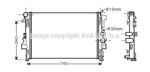 Радиатор охлаждения AVA MSA2356