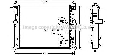 Радиатор охлаждения AVA MSA2458