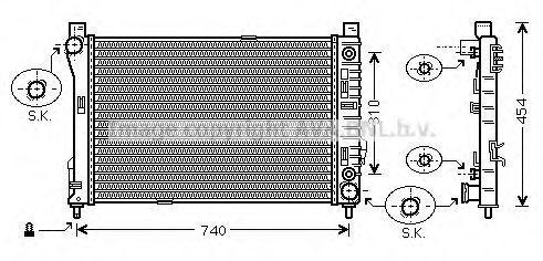 Радиатор охлаждения AVA MSA2464