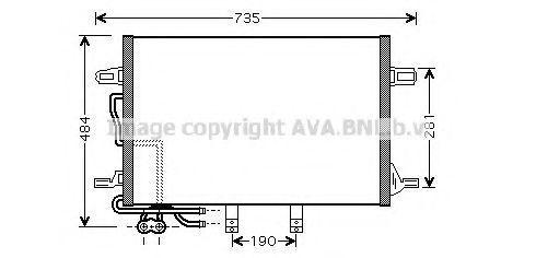 Радиатор кондиционера AVA MSA5307