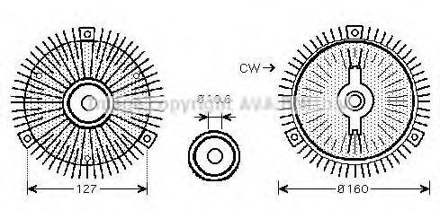 Сцепление, вентилятор радиатора AVA MSC488