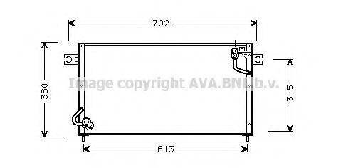 Радиатор кондиционера AVA MT5145