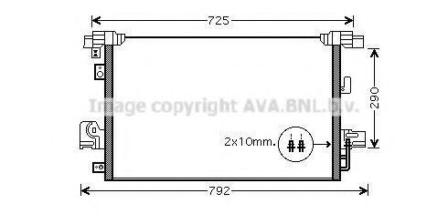 Конденсор кондиционера AVA MT5210D