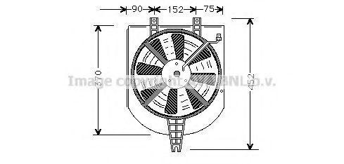 Вентилятор, охлаждение двигателя AVA MT7501