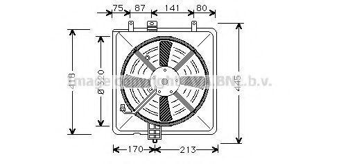 Вентилятор, охлаждение двигателя AVA MT7502