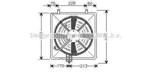 Вентилятор, охлаждение двигателя AVA MT7503