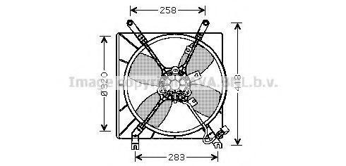 Вентилятор, охлаждение двигателя AVA MT7510