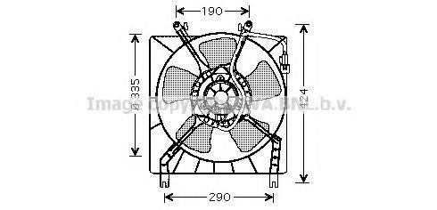Вентилятор, охлаждение двигателя AVA MT7511