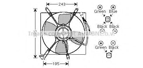 Вентилятор, охлаждение двигателя AVA MT7513
