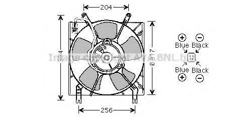 Вентилятор, охлаждение двигателя AVA MT7514