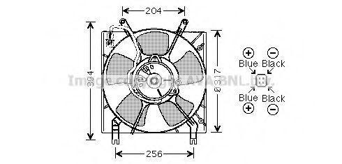 Вентилятор, охлаждение двигателя AVA MT7515