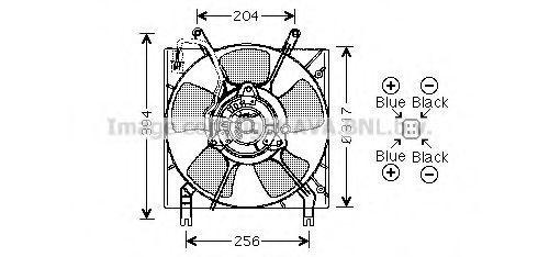Вентилятор, охлаждение двигателя AVA MT7516