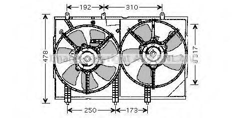 Вентилятор, охлаждение двигателя AVA MT7523