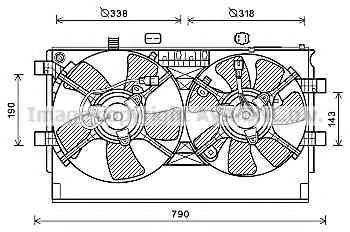 Вентилятор, охлаждение двигателя AVA MT7529