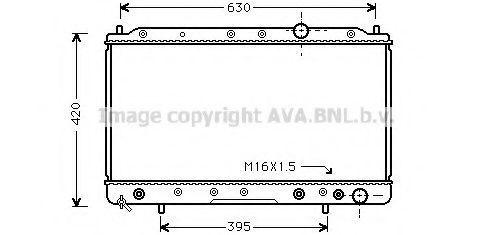 Радиатор, охлаждение двигателя AVA MTA2083
