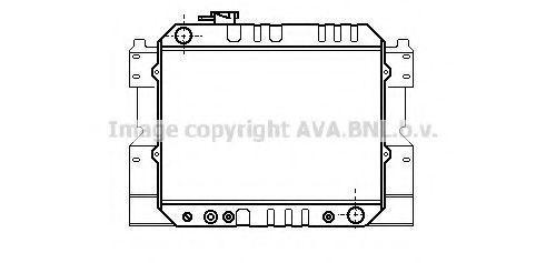 Радиатор, охлаждение двигателя AVA MZ2033