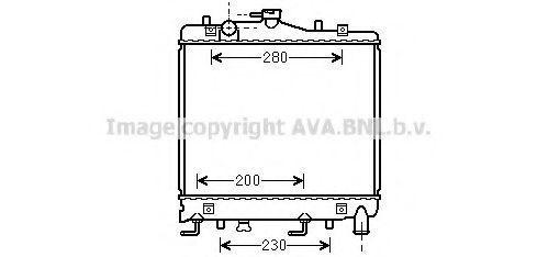 Радиатор, охлаждение двигателя AVA MZ2061