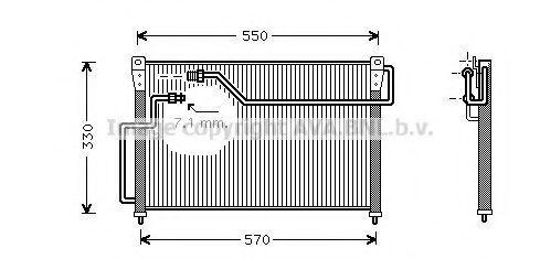 Радиатор кондиционера AVA MZ5107