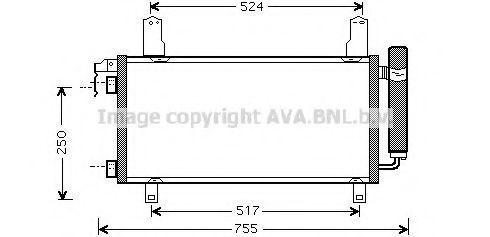 Радиатор кондиционера AVA MZ5157