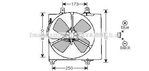Вентилятор, охлаждение двигателя AVA MZ7501