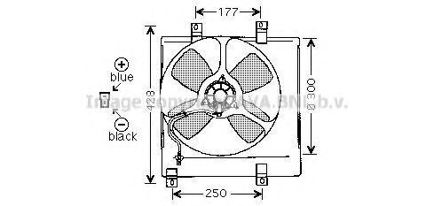 Вентилятор, охлаждение двигателя AVA MZ7504