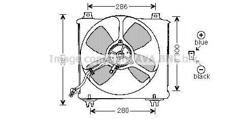 Вентилятор, охлаждение двигателя AVA MZ7505