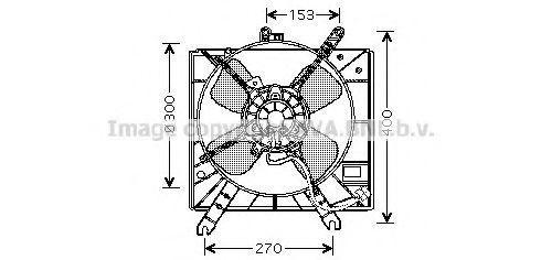 Вентилятор, охлаждение двигателя AVA MZ7515