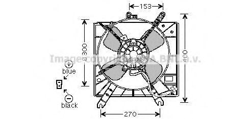 Вентилятор, охлаждение двигателя AVA MZ7516