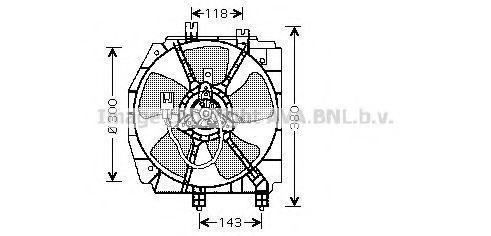 Вентилятор, охлаждение двигателя AVA MZ7523