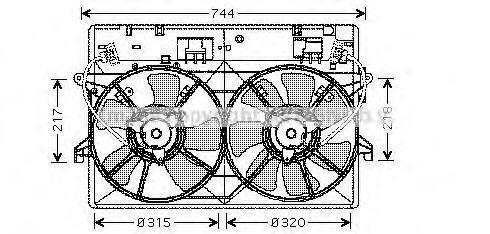 Вентилятор, охлаждение двигателя AVA MZ7524