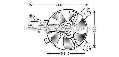 Вентилятор, охлаждение двигателя AVA MZ7527