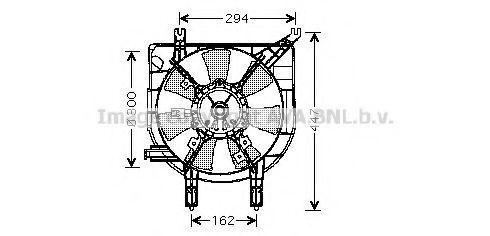 Вентилятор, охлаждение двигателя AVA MZ7531