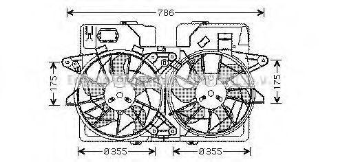 Вентилятор, охлаждение двигателя AVA MZ7532