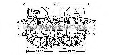 Вентилятор, охлаждение двигателя AVA MZ7533