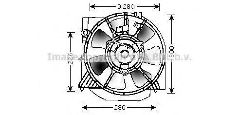 Вентилятор, охлаждение двигателя AVA MZ7541