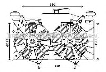 Вентилятор, охлаждение двигателя AVA MZ7551