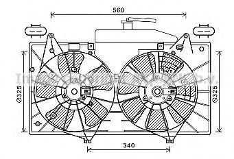 Вентилятор, охлаждение двигателя AVA MZ7552