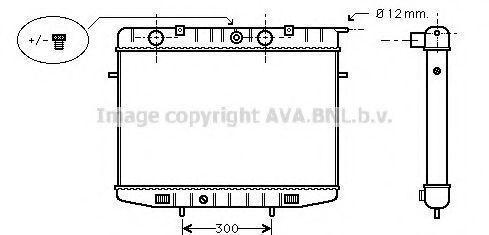 Радиатор охлаждения AVA OL2175