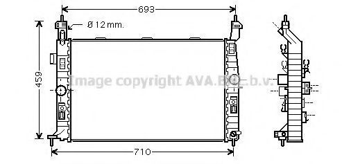 Радиатор охлаждения AVA OL2345