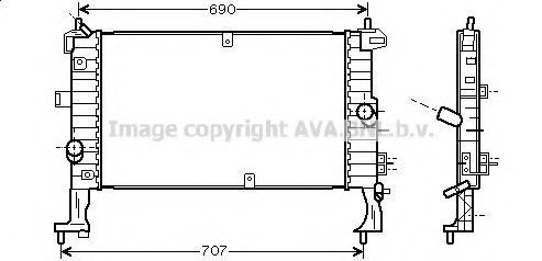 Радиатор охлаждения AVA OL2346