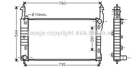 Радиатор, охлаждение двигателя AVA OL2432