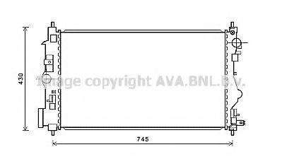 Радиатор охлаждения AVA OL2599
